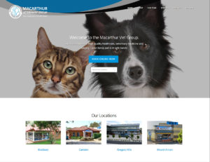 Macarthur Vet New website launch 1